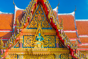 Beautiful detail on Wat Chalong Temple in Phuket, Thailand, Southeast Asia, Asiaの写真素材 [FYI03797347]