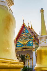 Mongkol Nimit temple (Wat) in Phuket old town, Phuket, Thailand, Southeast Asia, Asiaの写真素材 [FYI03797363]