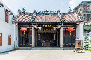 Han Jiang Ancestral Temple in George Town, UNESCO World Heritage Site, Penang Island, Malaysia, Soutの写真素材 [FYI03797475]