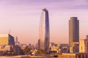 Skyline of London seen from One New Change, City of London with One Blackfriars at the Bank side, Loの写真素材 [FYI03797574]