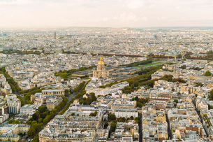 View of Paris from above Montparnasse Tower, Paris, France, Europeの写真素材 [FYI03797666]