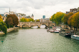 Pont Neuf over the River Seine, Isle de la Cite, Paris, France, Europeの写真素材 [FYI03797668]