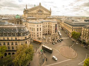 Paris Opera House from Lafayette Gallery (Galeries Lafayette), Paris, France, Europeの写真素材 [FYI03797671]