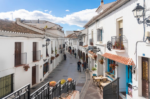 Old white village of Mijas, Malaga province, Andalucia, Spain, Europeの写真素材 [FYI03797734]