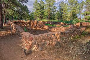 Elden Pueblo, site of ancient Sinagua village, in Flagstaff, Arizona, United States of America, Nortの写真素材 [FYI03798134]