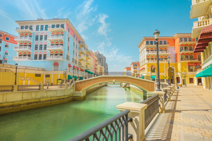 Beautiful Little Venice with canals connected by bridges in Venetian style and colouRF-NEul houses iの写真素材 [FYI03798277]