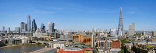 City of London panorama and The Shard, London, England, United Kingdom, Europeの写真素材 [FYI03798499]