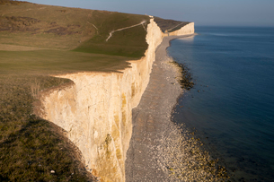 Seven Sisters chalk cliffs, South Downs National Park, East Sussex, England, United Kingdom, Europeの写真素材 [FYI03798500]