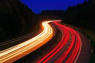 Highway A1 near Hermeskeil, Rhineland-Palatinate, Germany, Europeの写真素材 [FYI03798519]
