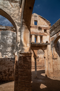 Islamic ruins of Mosque of Abou Yussef, Chellah Necropolis, UNESCO World Heritage Site, Rabat, Morocの写真素材 [FYI03798540]