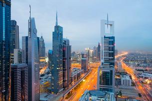Dubai skyline, Dubai, United Arab Emirates, Middle Eastの写真素材 [FYI03798583]
