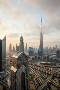 Burj Khalifa, Dubai, United Arab Emirates, Middle Eastの写真素材 [FYI03798587]