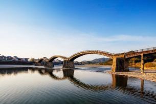 Kintaikyo five arched bridge, Iwakuni, Yamaguchi Prefecture, Honshu, Japan, Asiaの写真素材 [FYI03798748]