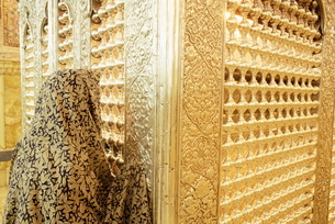 Mausoleum of Sayyed Mir Ahmad, brother of Imam Reza, Shiraz, Iran, Middle Eastの写真素材 [FYI03798972]