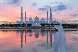 Sheikh Zayed Bin Sultan Al Nahyan Mosque, Abu Dhabi, United Arab Emirates, Middle Eastの写真素材 [FYI03799035]