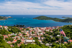 Charlotte Amalie on Saint Thomas, US Virgin Islandsの写真素材 [FYI03799071]