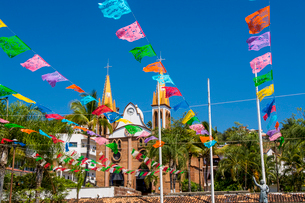 Church of Our Lady of Refuge, Puerto Vallarta, Jalisco, Mexico, North Americaの写真素材 [FYI03799076]