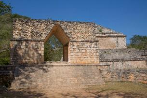 Entrance Arch, Ek Balam, Yucatec-Mayan Archaeological Site, Yucatan, Mexico, North Americaの写真素材 [FYI03799100]