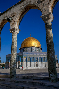 Dome of the Rock, UNESCO World Heritage Site, East Jerusalem, Israel, Middle Eastの写真素材 [FYI03799199]
