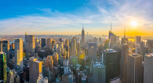 Empire State Building, Midtown, Manhattan, New York, United States of America, North Americaの写真素材 [FYI03799273]