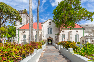 St. Michael Anglican Cathedral, Bridgetown, Barbados, West Indies, Caribbean, Central Americaの写真素材 [FYI03799419]