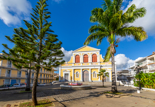 St. Peter and St. Paul Church, Pointe-a-Pitre, Guadeloupe, French Antilles, West Indies, Caribbean,の写真素材 [FYI03799444]