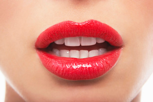Sensuous mouth with lipstickの写真素材 [FYI03800822]