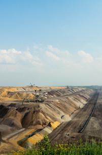 Opencast mine for brown coal, Juchen, Germanyの写真素材 [FYI03801741]