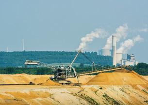 Brown coal extraction, Juchen, Germanyの写真素材 [FYI03801753]