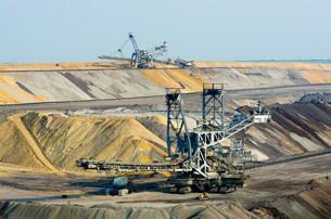 Opencast brown coal mining, Juchen, Germanyの写真素材 [FYI03801754]