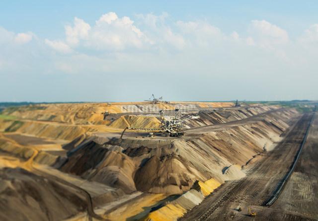 Opencast site for extracting brown coal, Juchen, Germanyの写真素材 [FYI03801759]
