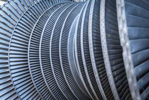 Detail of low pressure steam turbineの写真素材 [FYI03802399]