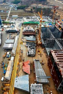 Shipping port, elevated view, GoSeong-gun, South Koreaの写真素材 [FYI03802872]