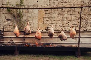 Traditional french roasting of hamsの写真素材 [FYI03803105]