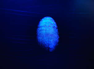 Human finger print as evidence of identity and as a passwordの写真素材 [FYI03804978]