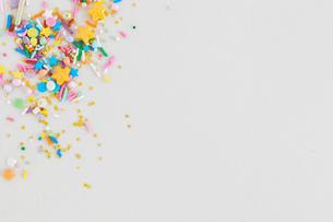 Multi-coloured multi-shaped confetti sprinklesの写真素材 [FYI03806059]
