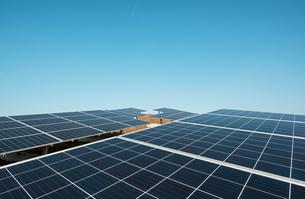 New solar farm constructed on former waste dumpの写真素材 [FYI03806950]