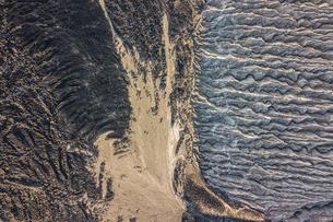 Volcanic crater and texture of San Benedicto Island, Punta Baja, Baja California, Mexicoの写真素材 [FYI03807678]