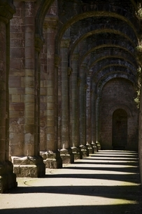 Fountains Abbey Yorkshire Englandの写真素材 [FYI03807828]