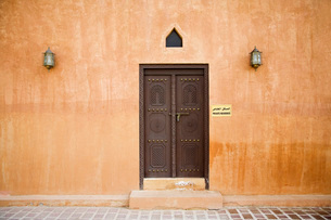 Al Ain UAE Architectural detail of Al Ain Palace Museumの写真素材 [FYI03807950]