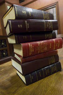 Legal books in court roomの写真素材 [FYI03807974]