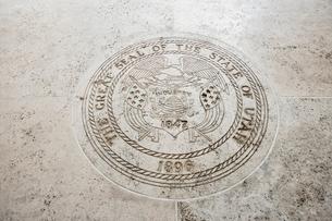 Seal of Utah in Fort Bonifacio, Manila, Philippinesの写真素材 [FYI03808013]