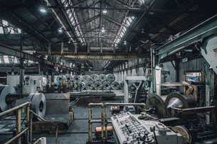 Interior of steel industryの写真素材 [FYI03809701]