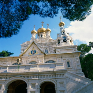 Russian Church, Mount of Olives, Jerusalem, Israel, Middle Eastの写真素材 [FYI03810957]