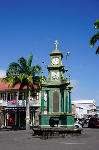 Clock Tower in the centre of capital, Piccadilly Circus, Basseterre, St. Kitts, St. Kitts and Nevis,の写真素材 [FYI03811080]