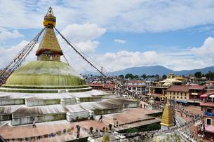 Boudhanath, Bagmati, Central Region, Nepalの写真素材 [FYI03811698]