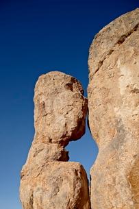 Rock pillar, City of Rocks State Park, New Mexico'の写真素材 [FYI03811826]