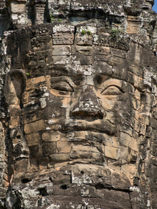 Detail of carving, Angkor Wat Archaeological Park, Siem Reap, Cambodia, Indochina, Southeast Asiaの写真素材 [FYI03811952]