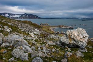 The rocky bay in Alkhornet, Svalbard, Arcticの写真素材 [FYI03812181]