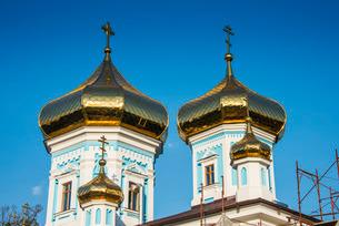 Ciuflea monastery in the center of Chisinau capital of Moldova, Eastern Europeの写真素材 [FYI03812182]